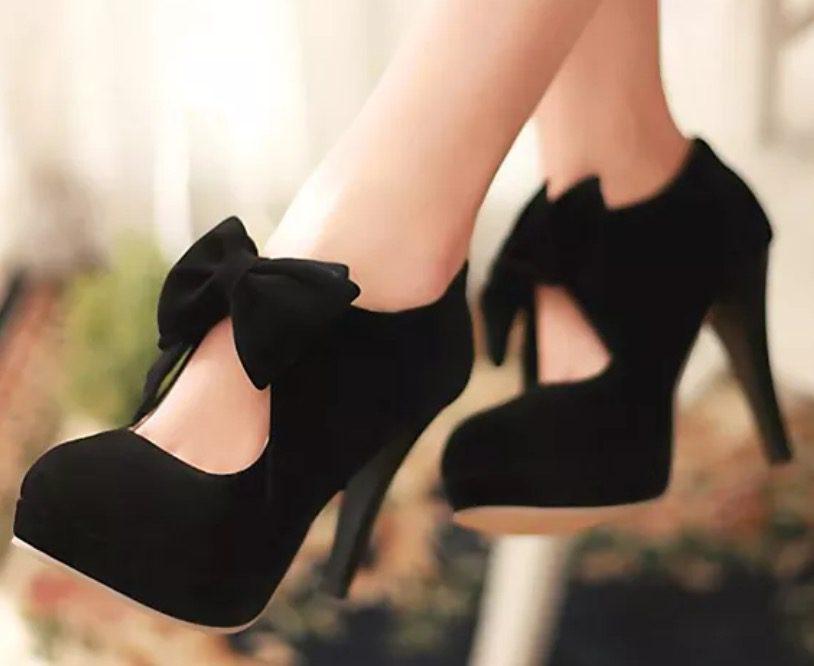 c4b4e3f0b521 Black Bow Heels – Suzy Q Jewels